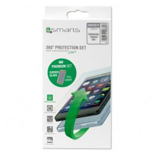 360° Premium Protection für Apple iPhone 7 TPU Cover + Curved Panzerglas Transp.
