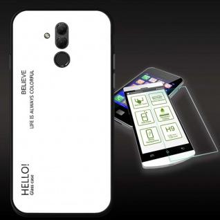Für Huawei Mate 20 Lite Color Effekt Weiß Tasche Hülle + H9 Hart Glas Cover Neu