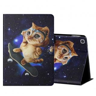 Für Samsung Galaxy Tab S6 Lite Motiv 4 Tablet Tasche Kunst Leder Hülle Etuis Neu