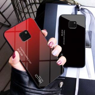 Für Huawei Mate 20 Lite Color Effekt Pink Tasche Hülle + H9 Hart Glas Cover Neu - Vorschau 2