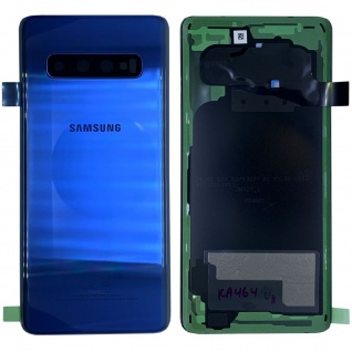 Samsung GH82-18378C Akkudeckel Deckel für Galaxy S10 G973F Klebepad Blau Ersatz