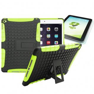 Hybrid Outdoor Schutzhülle Grün für iPad Air 2 Tasche + 0.4 H9 mm Panzerglas Neu