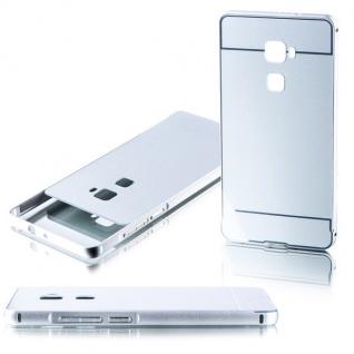 Alu Bumper 2 teilig mit Abdeckung Silber für Huawei Mate S 5.5 Tasche Hülle Case