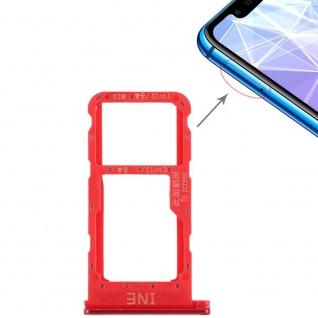 Für Huawei P Smart Plus Karten Halter Sim Tray Schlitten Holder Rot Ersatzteil - Vorschau 4