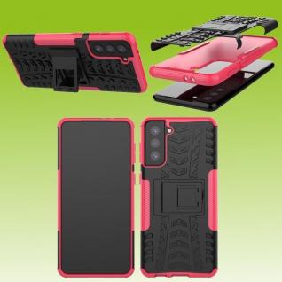 Für Samsung Galaxy S21 Plus G996B Outdoor Pink Handy Tasche Etuis Hülle Cover