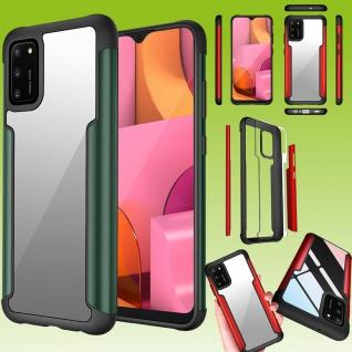 Für Samsung Galaxy A02S A025F Hybrid Iron Man Grün Handy Tasche Etuis Hülle Case