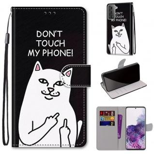 Für Samsung Galaxy S21 Plus 5G Kunst-Leder Handy Tasche Motiv 3 Hülle Etui Cover