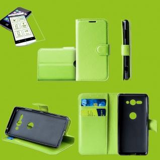 Für Huawei P Smart 2019 Tasche Wallet Premium Grün Hülle Etuis + H9 Hart Glas
