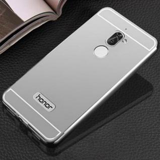 Alu Bumper 2 teilig mit Abdeckung Silber für Huawei Honor 6X Tasche Hülle Case