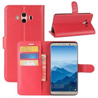 Tasche Wallet Premium Rot für Huawei Mate 10 Hülle Case Cover Etui Schutz Neu