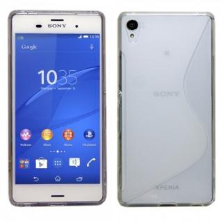 Silikoncase S-Line Transparent Tasche Zubehör für Sony Xperia Z3 Plus + / Dual