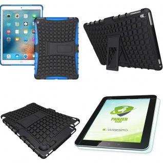 Hybrid Outdoor Schutzhülle Blau für iPad Pro 9.7 Tasche + 0.4 H9 Hartglas Case