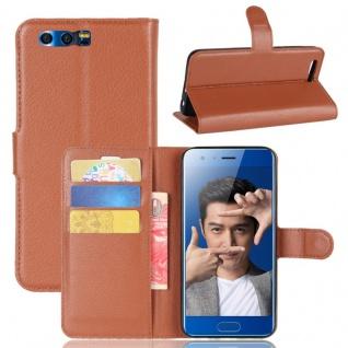Schutzhülle Braun für Huawei Honor 9 Bookcover Tasche Case Cover Top Zubehör Neu