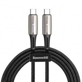 Baseus USB-C auf USB-C Ladekabel Datenkabel Type C 2m Schwarz Zubehör Laden