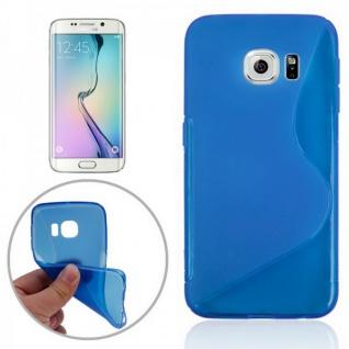 Silikonhülle S-Line Blau Cover Case für Samsung Galaxy S6 Edge G925 G925F Tasche