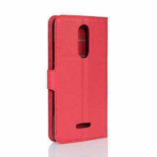 Tasche Wallet Premium Rot für Wiko Upulse Lite Hülle Case Cover Etui Schutz Neu - Vorschau 3