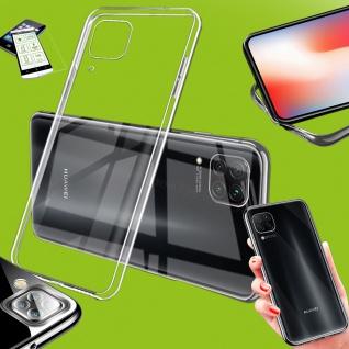 Für Huawei P40 Lite Silikon TPU Transparent + H9 Glas Handy Tasche Hülle Etuis