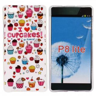 Schutzhülle Silikon Muster 36 für Huawei Ascend P8 Lite Tasche Case Hülle Schutz