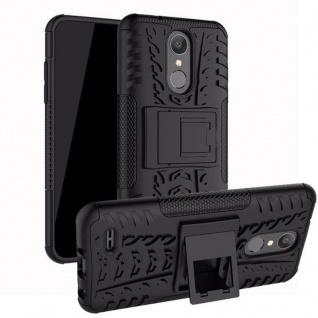 Für LG K9 2018 Hybrid Case 2teilig Outdoor Schwarz Etui Tasche Hülle Cover Neu