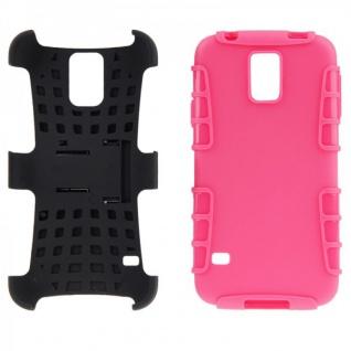 Hybrid Case 2 teilig Robot Pink Cover Hülle für Samsung Galaxy S5 Mini G800 F A - Vorschau 5
