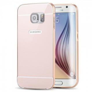 Alu Bumper 2 teilig mit Abdeckung Gold für Samsung Galaxy S6 Edge G925F Tasche