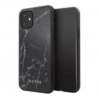 Guess Marble Collection Apple iPhone 11 Schwarz Hard Case Cover Schutzhülle Etui