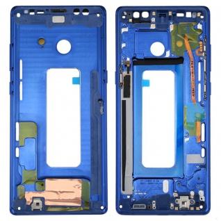 Für Samsung Galaxy Note 8 N950F Reparatur Mittelrahmen Kamera Gehäuse Blau Neu