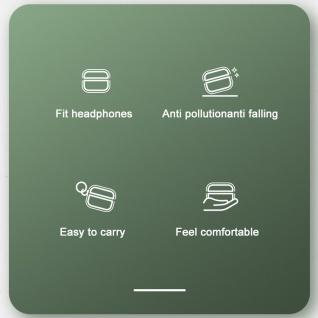 Benks Shockproof Apple Airpods Pro Cover Blau Schutzhülle Tasche Case Halter