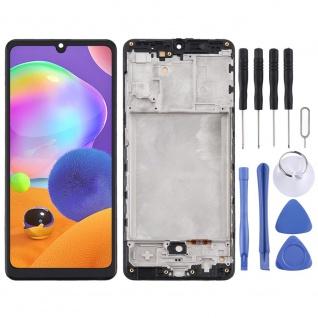 Für Samsung Galaxy A31 A315F Display Full TFT LCD + Rahmen Touch Ersatz Schwarz