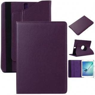 Schutzhülle 360 Grad Lila Tasche für Samsung Galaxy Tab S3 9.7 T820 T825 Case