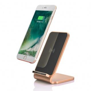 Induktive Schnellladestation 10W Ladestation Qi NFC Wireless Charger Dock Gold