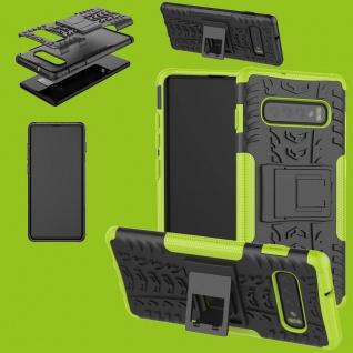 Für Samsung Galaxy S10 Plus G975F 6.4 Hybrid 2teilig Outdoor Grün Tasche Etuis