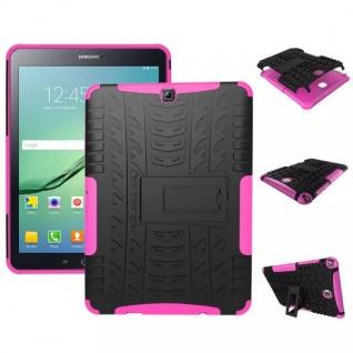 Hybrid Outdoor Schutzhülle Pink für Samsung Galaxy Tab S2 9.7 T810 Tasche Hülle