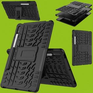 Für Samsung Galaxy Tab S7 T870 / T875 Hybrid Schwarz Tablet Tasche Etuis Hülle