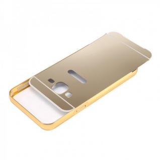 Alu Bumper 2 teilig Abdeckung Gold für Samsung Galaxy J1 Hülle Case Tasche - Vorschau 2