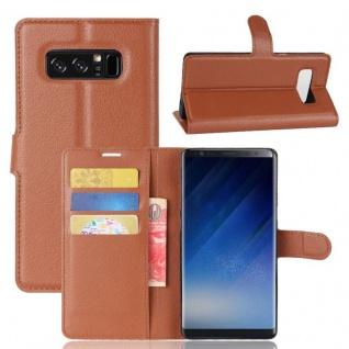 Schutzhülle Braun für Samsung Galaxy Note 8 N950F Bookcover Tasche Case Cover Neu