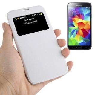 Smartcover Window Weiss für Samsung Galaxy S5 Mini G800 Tasche Cover Case Neu