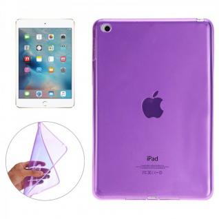 Schutzhülle Silikon Glossy Lila Hülle für Apple iPad Pro 12.9 Zoll Tasche Case