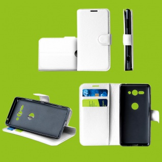 Für Samsung Galaxy S10 Plus G975F 6.4 Tasche Wallet Kunst-Leder Weiß Hülle Etuis