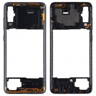 Back Housing Frame für Samsung Galaxy A70 Schwarz Bezel Plate Ersatz Reparatur