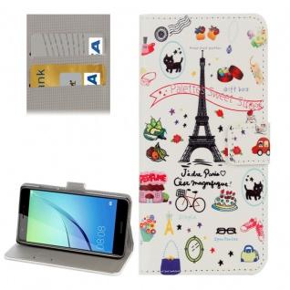 Schutzhülle Muster 77 für Huawei Nova Bookcover Tasche Case Hülle Wallet Etui
