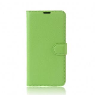 Tasche Wallet Premium Grün für Wiko Upulse Lite Hülle Case Cover Etui Schutz Neu - Vorschau 2