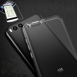 Silikoncase Transparent Tasche + 0, 3 H9 Panzerglas für Xiaomi Mi6 Hülle Case Neu