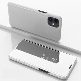 Für Apple iPhone 12 Mini View Smart Cover Hülle Silber Handy Tasche Wake UP Etui