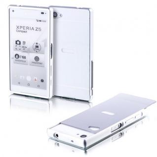 Alu Bumper 2teilig Abdeckung Silber für Sony Xperia Z5 Compact 4.6 Tasche Case