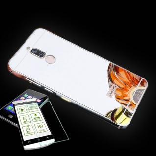 Alu Bumper 2 teilig Silber + 0, 3 H9 Panzerglas für Huawei Mate 10 Lite Tasche