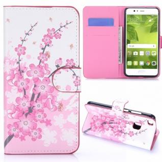 Schutzhülle Muster 6 für Huawei P10 Lite Bookcover Tasche Case Hülle Wallet Neu