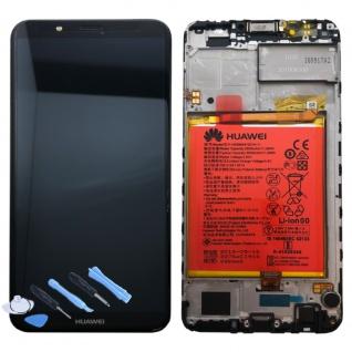 Huawei Display LCD Rahmen für Y7 2018 Service Pack 02351USA Schwarz Batterie Neu