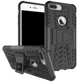 New Hybrid Case 2teilig Outdoor Schwarz für Apple iPhone 8 und 7 Plus 5.5 Tasche