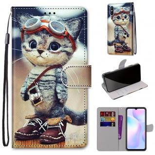 Für Xiaomi Redmi 9A Kunst-Leder Handy Tasche Motiv 1 Hülle Etuis Cover Schutz